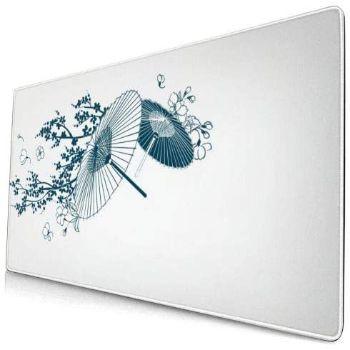 マウスパッド 大型 ゲーミング デスクマット 傘 和柄 和風 サクラ 桜柄 白