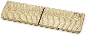 FILCO Genuine ウッドリストレスト 分離型(2分割) Sサイズ〔幅298mm〕北海道産天然木使用 オスモカラー仕上げ 日本製 ブラウン FGWR/S2